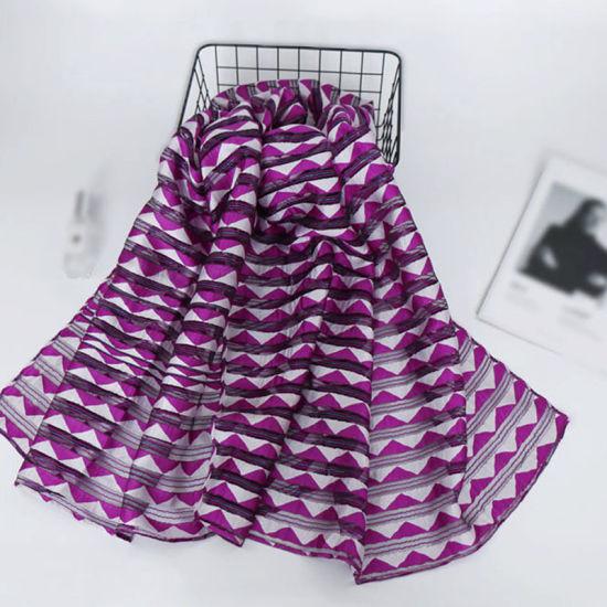Yarn Dyed Types Cheap Price Wholesale Polyester Long Scarf Hijab Shawl