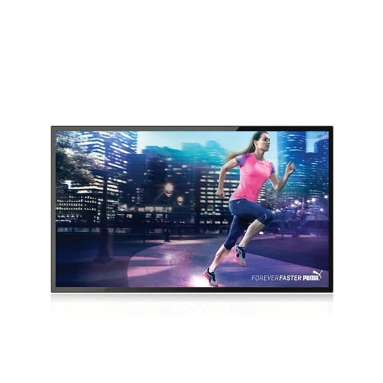 55 Inch Wall Mount LCD Indoor Display Digital Signage HD and 500nits Monitor TV