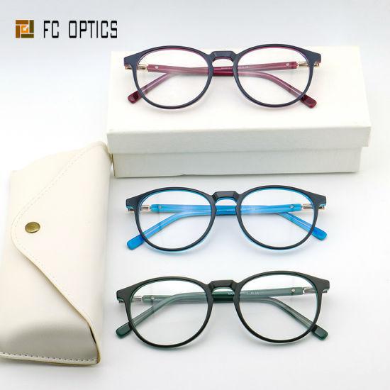 Round Spring Hinge Fashion Vintage Cool Designer Prescription Women's Sterling Mens Brand Wholesale Wenzhou Acetate Optical Glasses Eyewear Frames