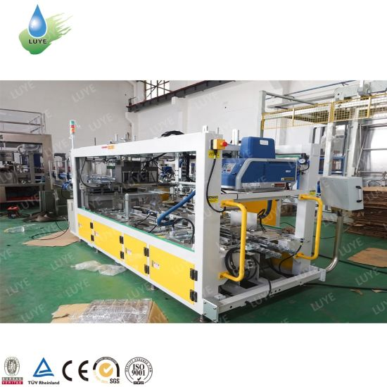 Automatic One Piece Wrap Around Case Carton Box Packing Packaging Machine with Glue Sealing for Can Bottle