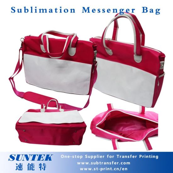 Sublimation Blank Handbag Nylon Canvas Tote Bag (with shoulder strap)