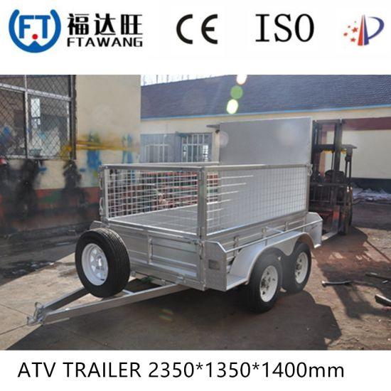 Galvanized Box Cargo Semi Trailer Flatbet Container Semi Trailer