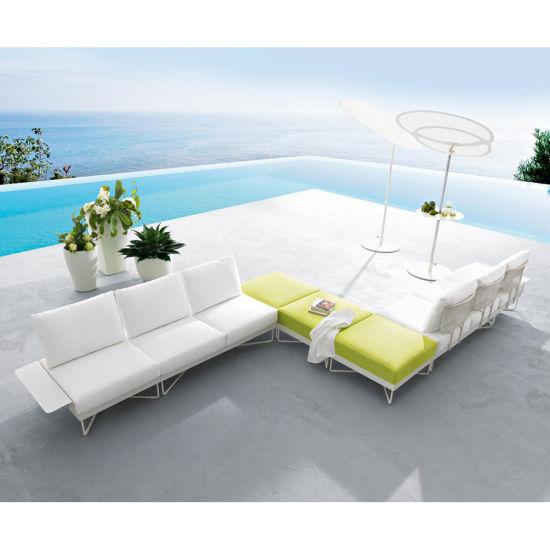 Hotel Sale Modern Garden Sofa Set Outdoor Rattan Sofa Furniture Patio Sofa