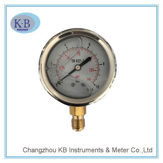 Manometer Stainless Steel Liquid Filled Pressure Gauge