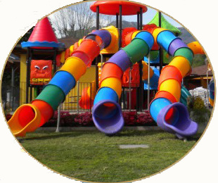 High Quality Multi Slides Outdoor Playground Children Playground Slide (HK-50034B) pictures & photos