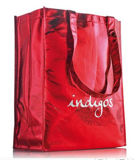 Eco Promotional Fashion Shining PP Non Woven Tote Handle Bag
