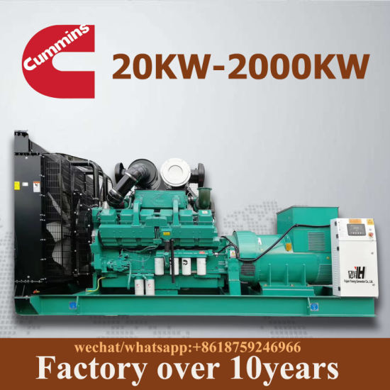 Fuel Less Power Plant Set Electric Diesel AC Generator with Cummins Engine