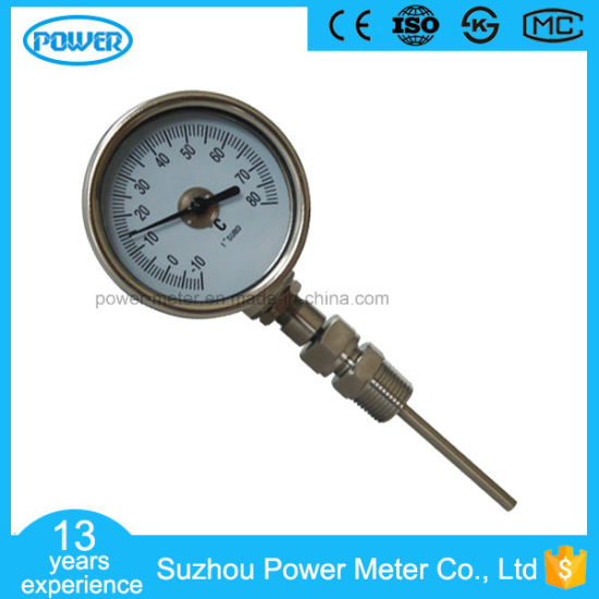 60mm Bimetallic Thermometer Stainless Steel Omni-Directional Temperature Gauge