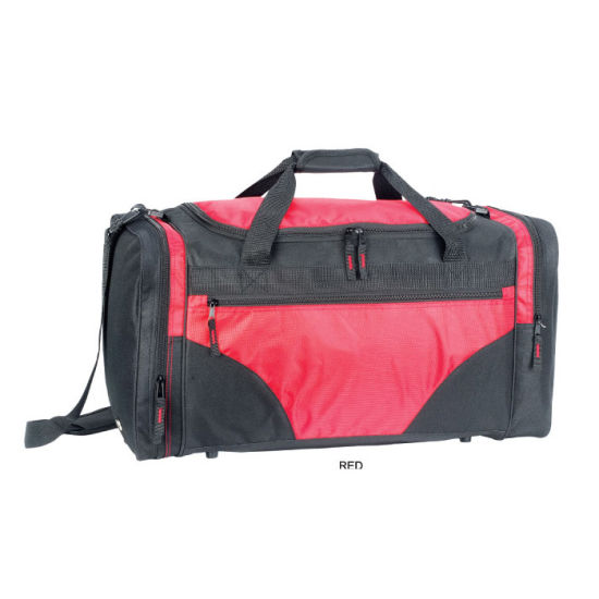 China Promotion Polyester Outdoor Sport Travel Duffle Fitness Gym ... 551bf5a10f53a