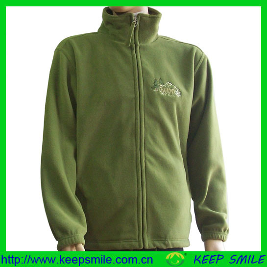 Csutom Polar Fleece Jacket with Emb Chest Logo