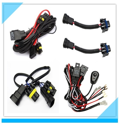 Auto Electric Car LED Headlight Fog Light Wire Harness pictures & photos