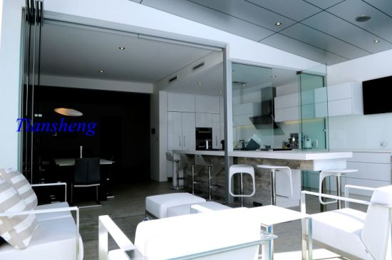 China Exterior Interior Frameless Folding Glass Doors - China ...