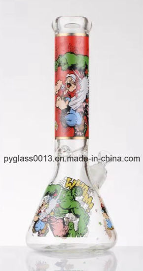 Decal Glass Water Pipe with Cheap Wholesale Price