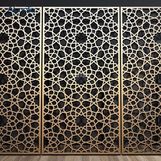 Laser Cut Decorative Metal Screens For Architectural Wall Decoration