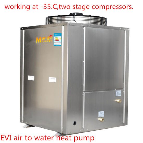 China R410A 18kw Commercial Hot Water Heat Pump Heating System ...