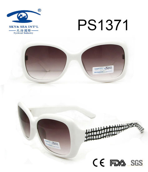China Wholesale Market Full Rim White Sunglasses (PS1371) pictures & photos