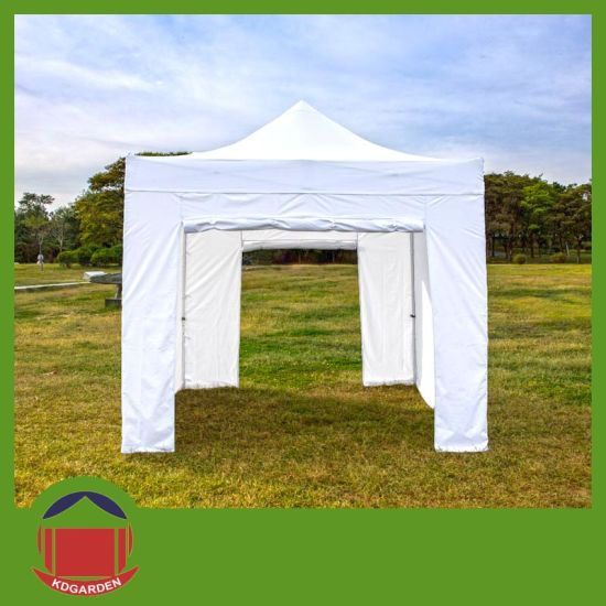 10X10FT Gazebo Canopy Tent with Rolling up Door