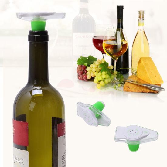 Reusable Vacuum Sealing Wine Bottle Stopper Silicone Soft Pop Drinks Saver Plug