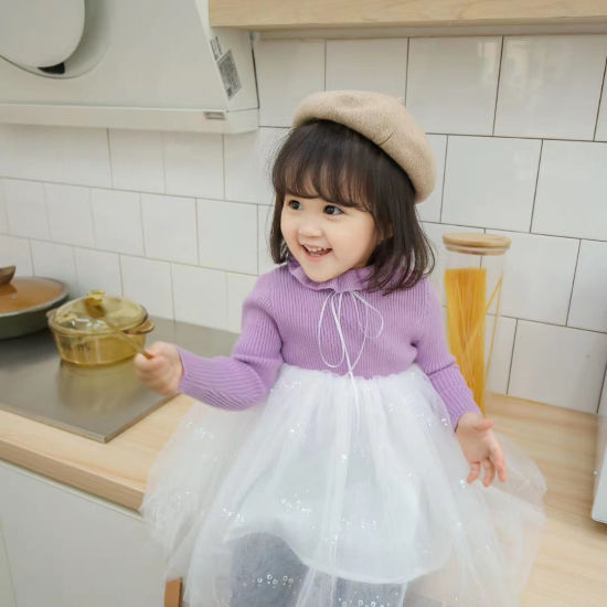 Wholesale Princess Dress with Gauze Children Clothes Baby Girl Wear