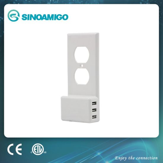 China Usb Charger Outlet Wall Plate Cover No Batteries Or Wires China Duplex Usb Outlet Wall Plate Usb Wall Outlet