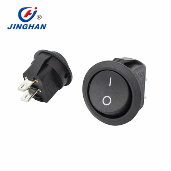 Red LED DOT Mini Round Type Rocker Switch on-off