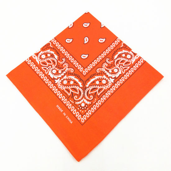 High Quality Promotional Gift Custom Design Print Cotton Square Bandana