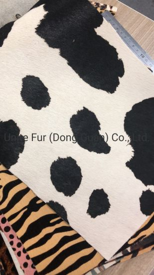 Natural Dairy Cattle Pattern Printing Hair Calf Real Leather for Furniture, Bags, Shoes