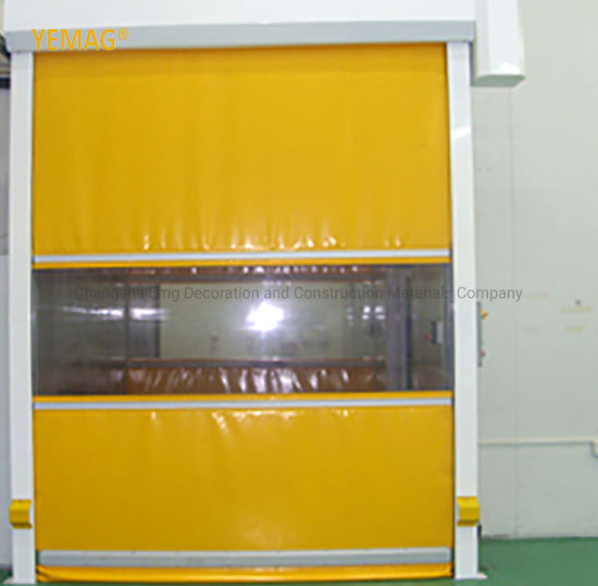 Industrial Automatic PVC Fabric Plastic Rapid Rolling Shutter Roll up Roller Shutter Warehouse Door