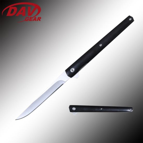 "5""8cr14 MOV S. Steel Water Mill Blade Ball Bearing Pocket Folding Knife"