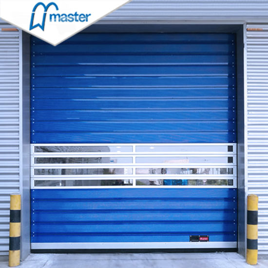 Industrial Warehouse Automatic Fast Thermal Insulated Aluminum Alloy High Speed Spiral Shutter Door/ Fast Roller Shutter Door with PU Foaming