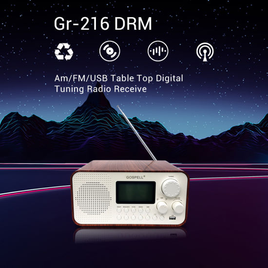 DRM/Am/FM USB Desktop Digital Tuning Radio Receiver with World Band pictures & photos