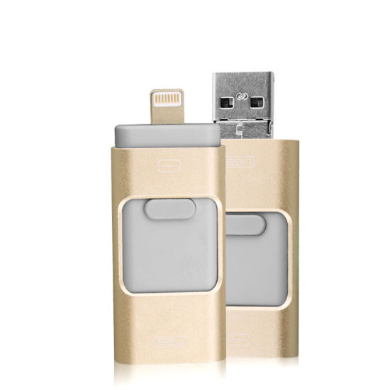Personalized OEM Micro Lightning Memory Stick Manufacturer Gift Custom Logo Mini 3 in 1 OTG USB Flash Drive