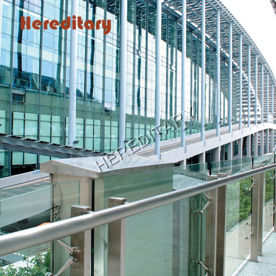 Stainless Steel Handrail Fittings Explosion-Proof Glass Railing for External Railing