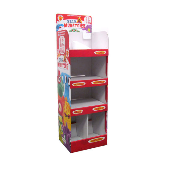 Custom Printing Wholesale Good Quality Cardboard Lighting Display Cabinet Shelves