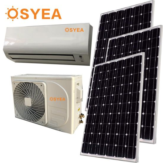 Osyea 100% DC-AC Solar Air Conditioner 9000/12000/18000/24000BTU Solar Hybrid Power pictures & photos