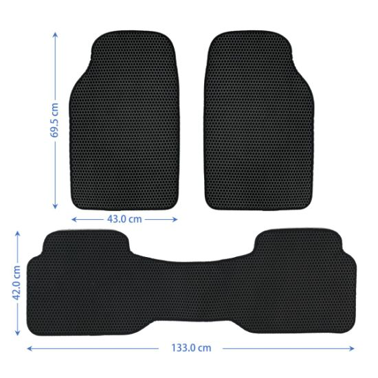 Hot Sale 3PCS Full Sets Auto EVA Car Floor Mats