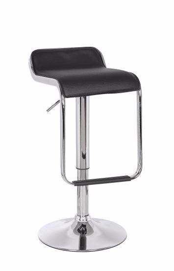 Modern PU Leather Bar Chair Adjustable Swivel Chair Bar Stool