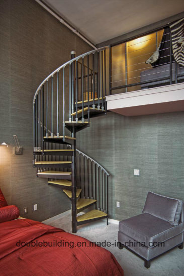 Economic Apartment Wrought Iron Spiral Staircase