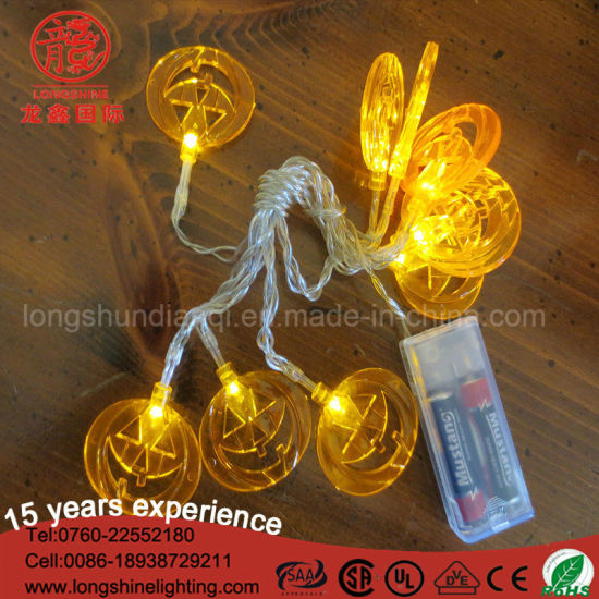 China Battery Operated 1m 10 Bulbs Led Pumpkin String Lights For