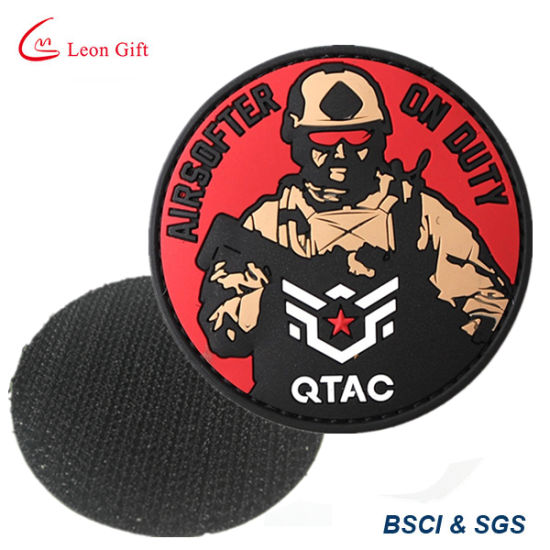 Factory Custom Military Rubber Badge with Magic Tape PVC Patches