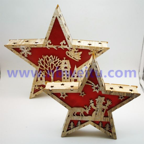 Wholesale Price Christmas Home Decoration MDF LED Star Night Light pictures & photos