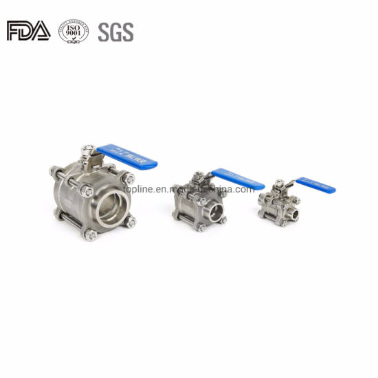 Three Piece Ball Valve with Welding Ends