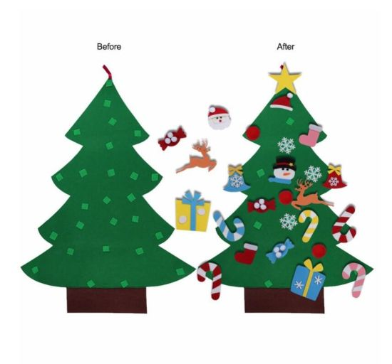 Mini Ornament Outdoor Felt Topper Artificial Small DIY Christmas Tree pictures & photos