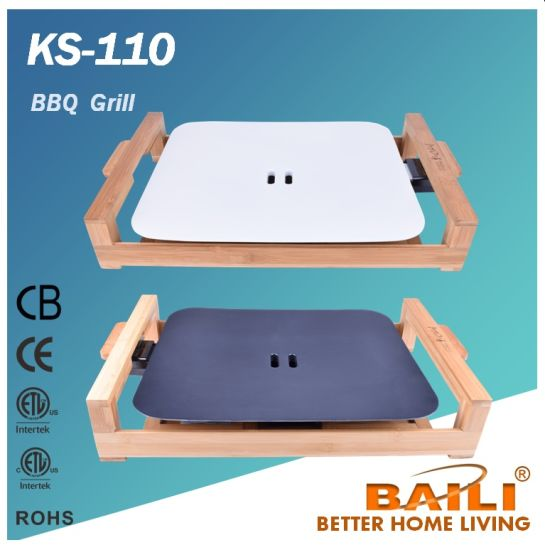Electric Griddle with Bamboo Base, BBQ Grill pictures & photos