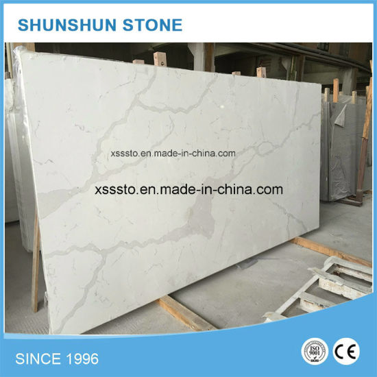 Prefab White Quartz Stone Kitchen Benchtop for Kitchen Trend pictures & photos