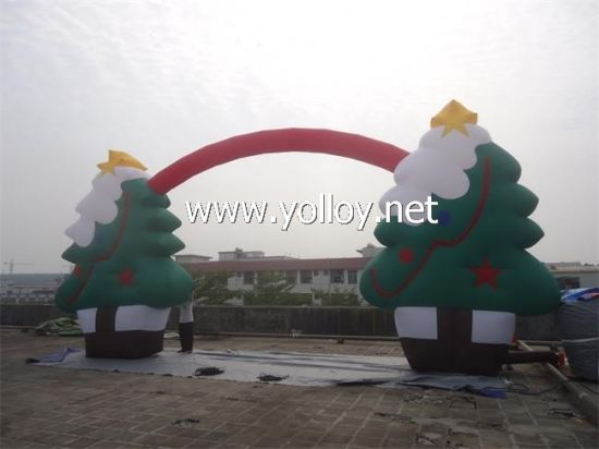 blow up inflatables outdoor christmas tree arch - Blow Up Christmas Tree