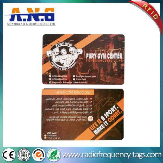 13 56MHz Hf RFID Plastic PVC Mf Card for Gym Fitness