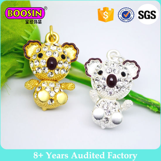 Filled Crystal Lovely Pig Charm Pendant for Jewelry Necklace Making Fashion Animal Charms #5759 pictures & photos