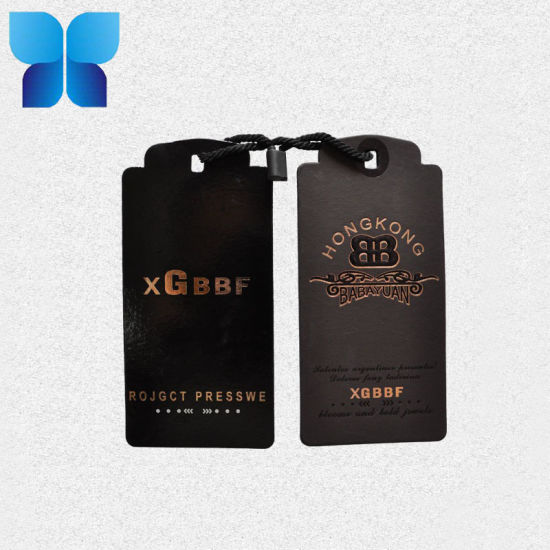 Garment Cardboard Brand Name Tags Clothing Label Tag for Apparel