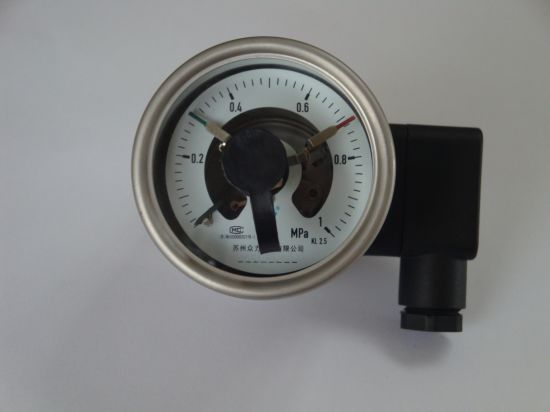 """Full Ss 63mm 2.5"""" Electric Contact Pressure Gauge"""